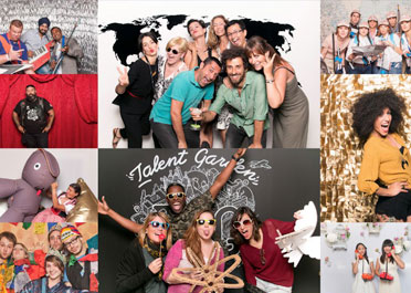 services corporate events company ebvents OfiAfterWork increase team motivation ofibreak photobooth themed party company celebration